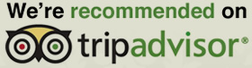 We're recommended on tripadvisor